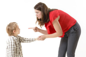 48007548 - mother disciplining her child